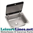 SNG 4133 square sink with glass lid
